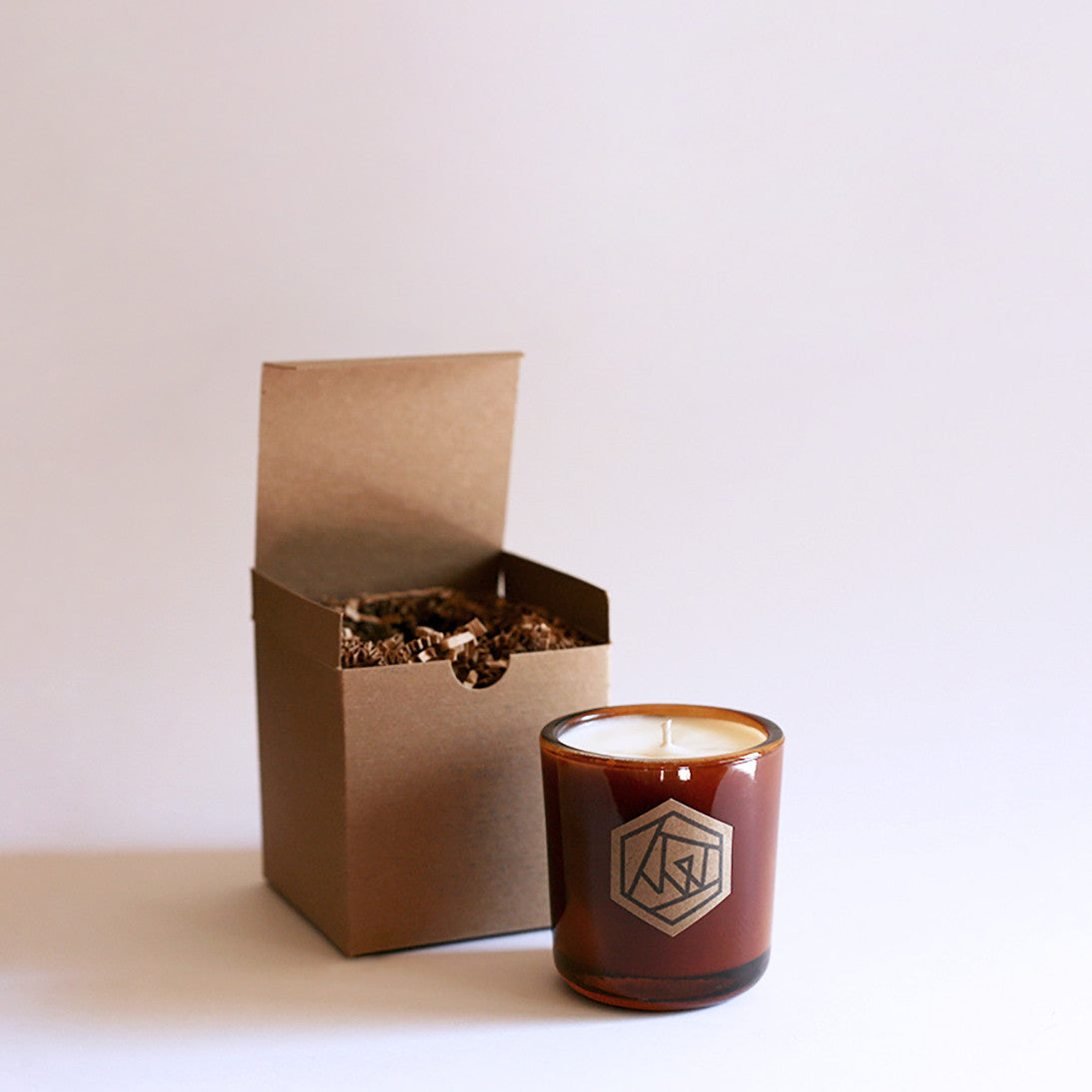 SOLSTICE Amber Recycled Glass Soy Candle