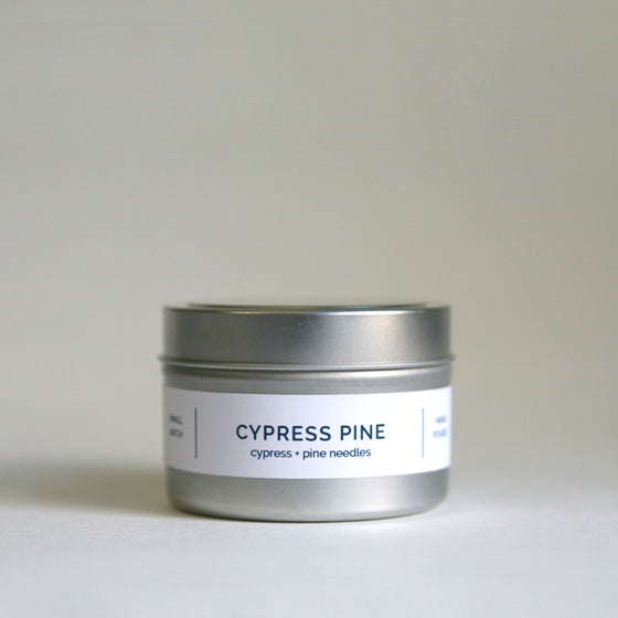 CYPRESS PINE 4 oz Travel Tin Soy Candle