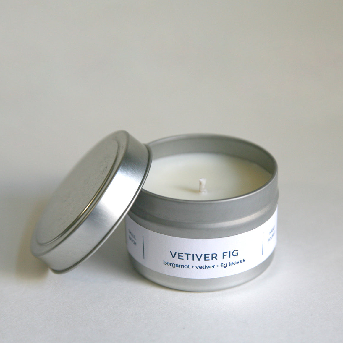 VETIVER FIG 4 oz Travel Tin Soy Candle