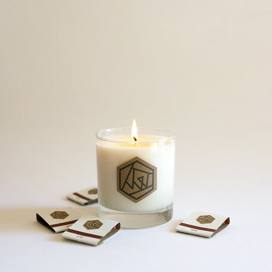 SOLSTICE Glass Soy Candle