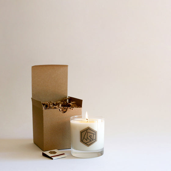 TEAK Glass Soy Candle