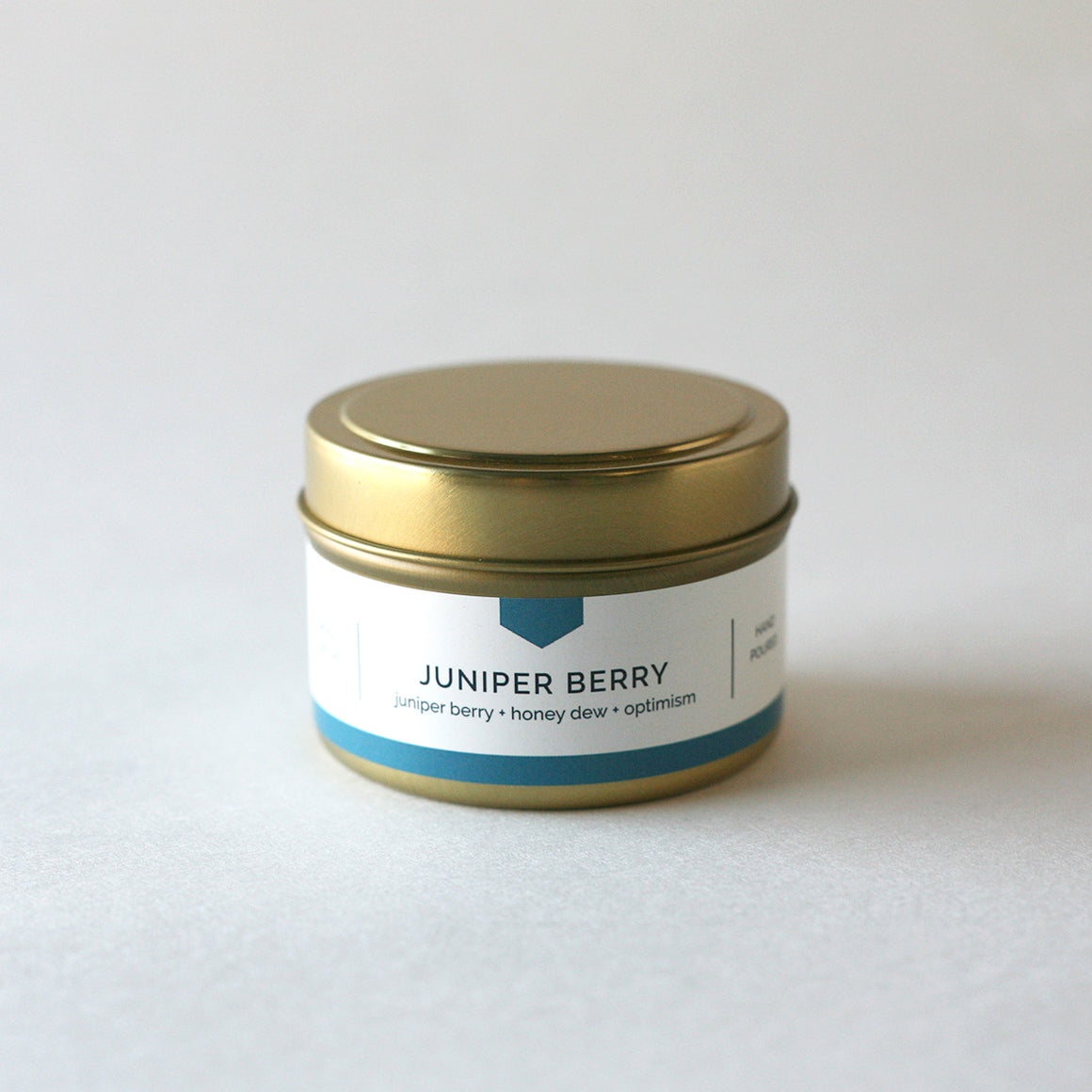 JUNIPER BERRY 4 oz Travel Tin Soy Candle