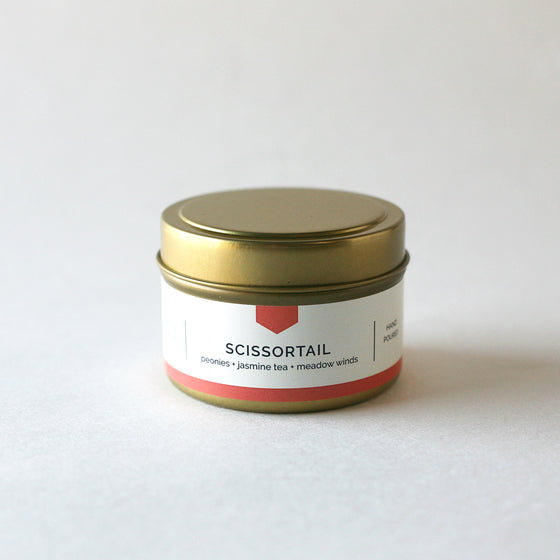 SCISSORTAIL 4 oz Travel Tin Soy Candle