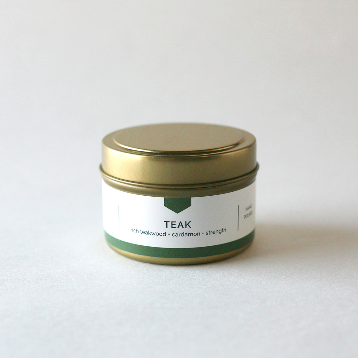 TEAK 4 oz Travel Tin Soy Candle