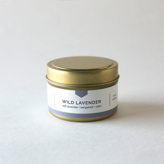 WILD LAVENDER 4 oz Travel Tin Soy Candle