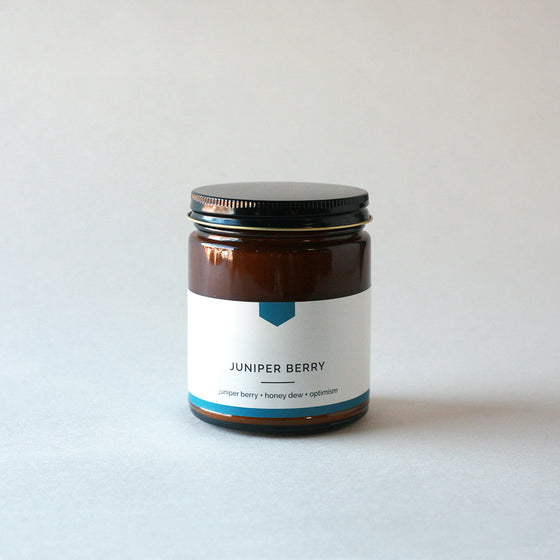JUNIPER BERRY Amber Love Soy Candle