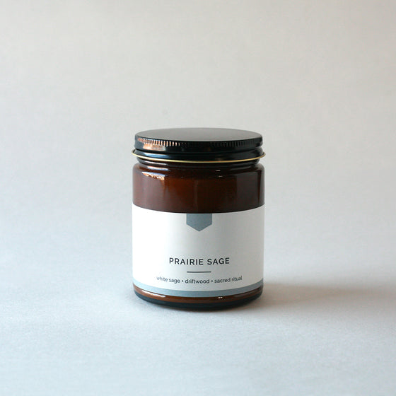 PRAIRIE SAGE Amber Love Soy Candle
