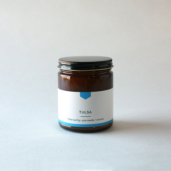 TULSA Amber Love Soy Candle