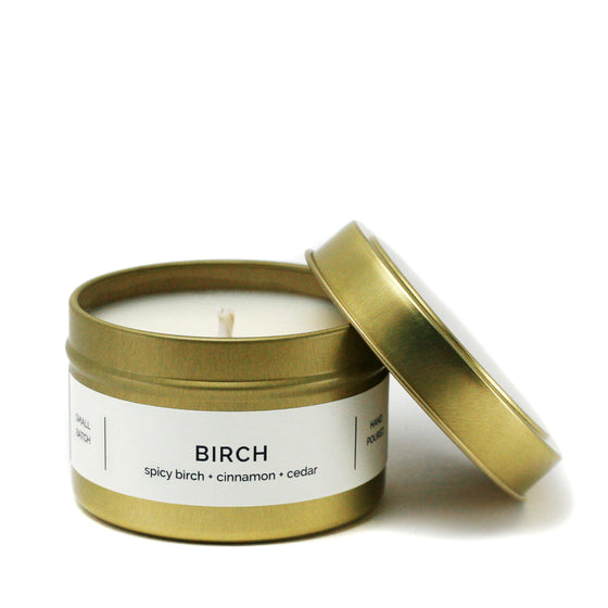 BIRCH 4 oz Travel Tin Soy Candle