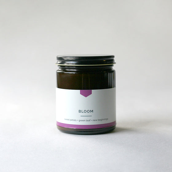 BLOOM Amber Love Soy Candle - Limited Edition