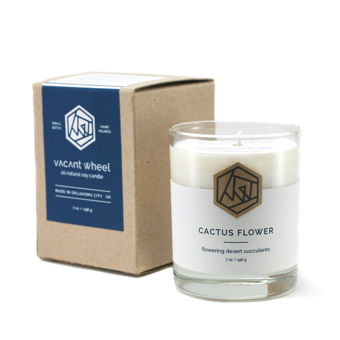 CACTUS FLOWER Cocktail Glass Soy Candle