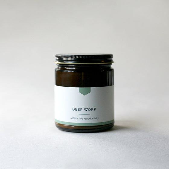 DEEP WORK Amber Love Soy Candle - COLLAB