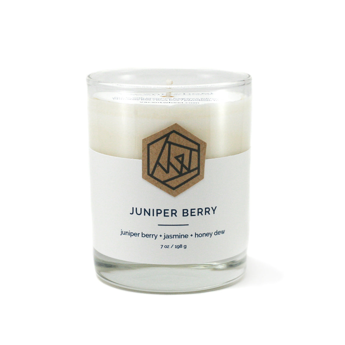 JUNIPER BERRY Cocktail Glass Soy Candle