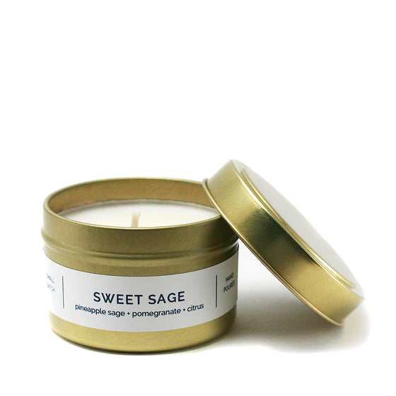 SWEET SAGE 4 oz Travel Tin Soy Candle