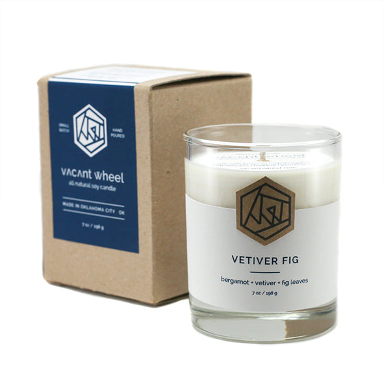 VETIVER FIG Cocktail Glass Soy Candle