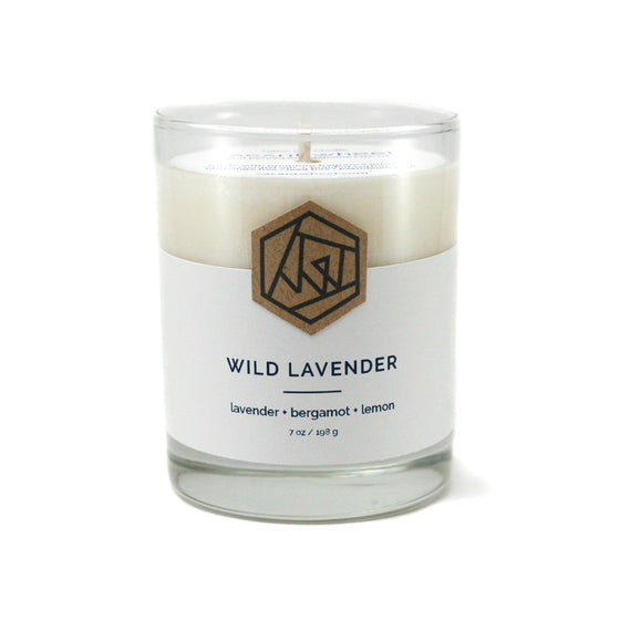 WILD LAVENDER Cocktail Glass Soy Candle