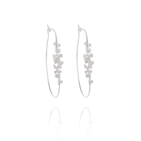 Silver Cosmo Earrings