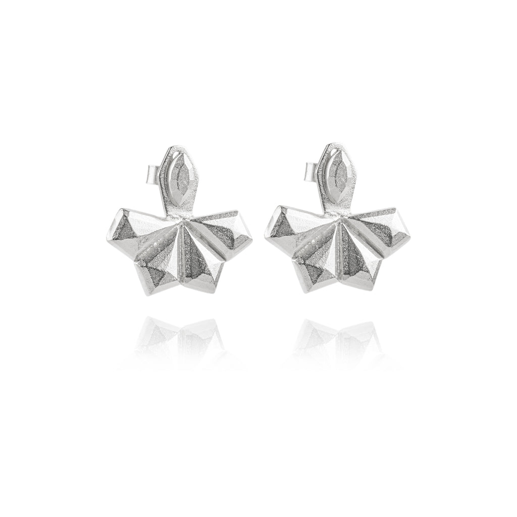 Ella Ear Jackets in Silver