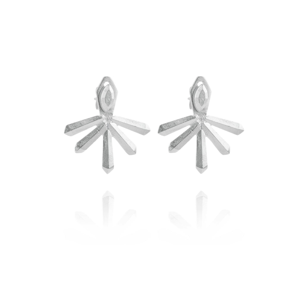 Krysta Ear Jackets in Silver