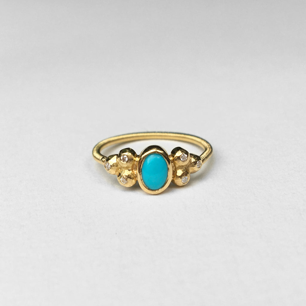 Liv Turquoise & Diamonds Ring