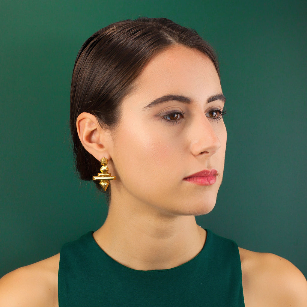 Gold Cosmo Earrings