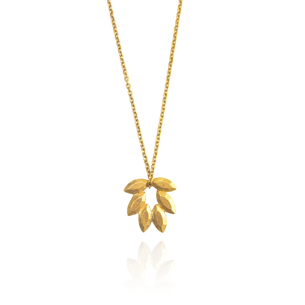 Juni Palm Pendant in Gold