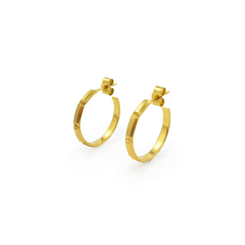Juni Palm Hoops in Gold