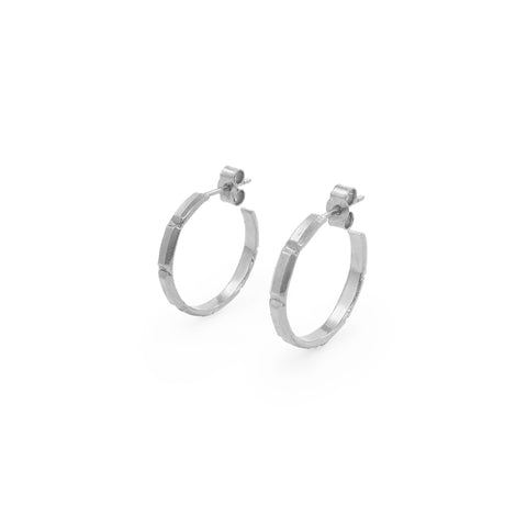 Juni Palm Hoops in Silver