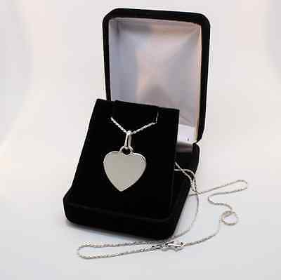 Personalized Sterling Silver Heart Pendant Necklace Engraved