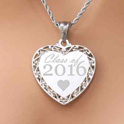 Class of 2016 graduation necklace pendant engravable perfect gift for a loved on