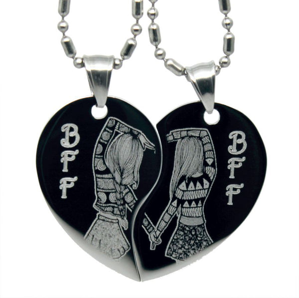 BFF Best Friends Forever Heart Friendship Necklaces