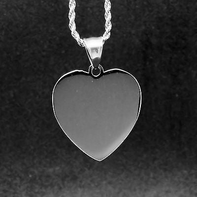 I love you to the Moon and Back Luxury Heart Pendant w/ Free Engraving on back