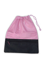 Danshuz Mesh Dance Shoe Bag Pink - B745PK