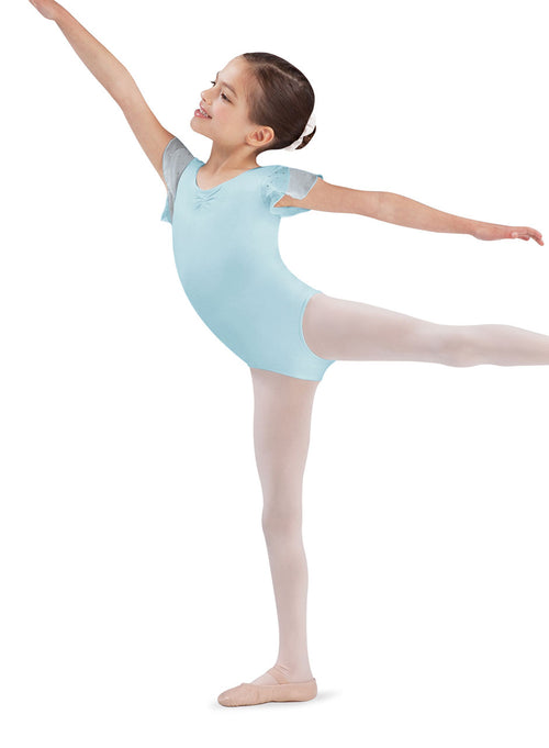 Bloch Child Flutter Sleeve Leotard With Sequins - CL3732