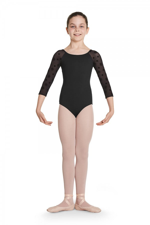 Bloch Child Keyhole Back 3/4 Sleeve Leotard - CL8716