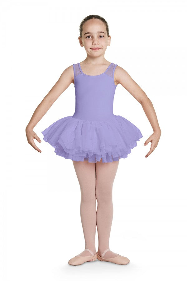 Bloch Child Floral Flock Mesh Back Tank Tutu - CL8785
