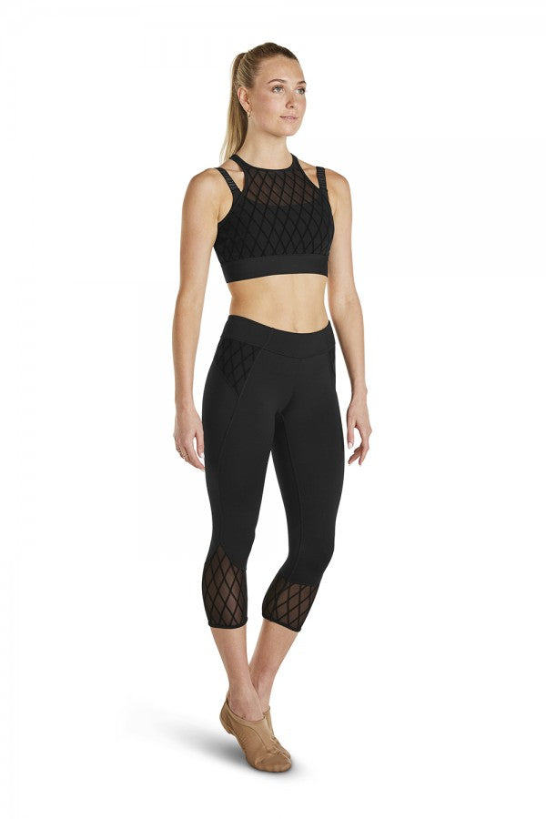 Bloch Adult Diamond Mesh Capri Leggings -  FP5045