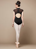 Bloch Adult Flock Mesh Zip Back Cap Sleeve Leotard - L9842