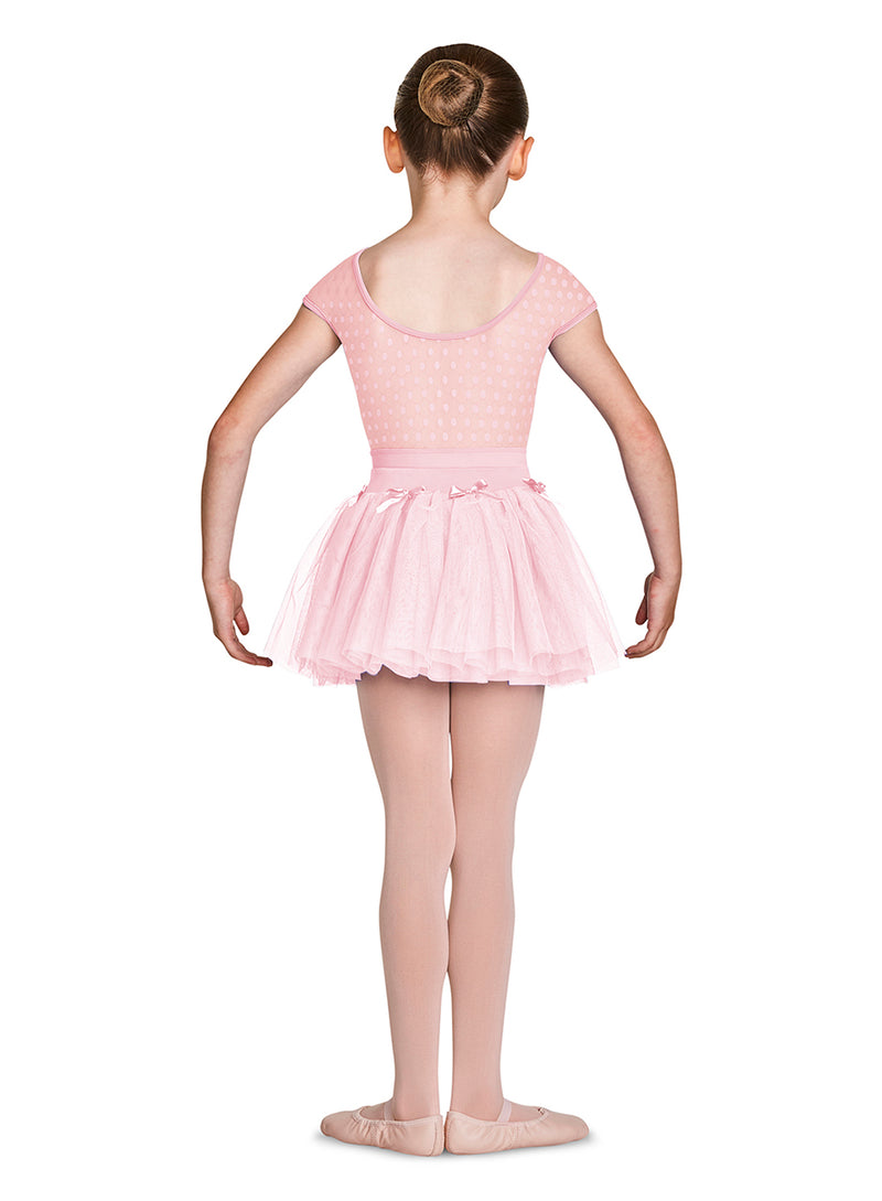Bloch Child Spot Mesh Cap Sleeve Leotard - M1533C