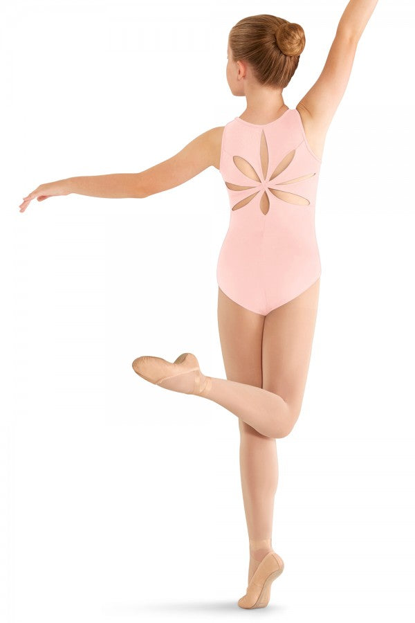Mirella Child Flower Back Leotard - M413c