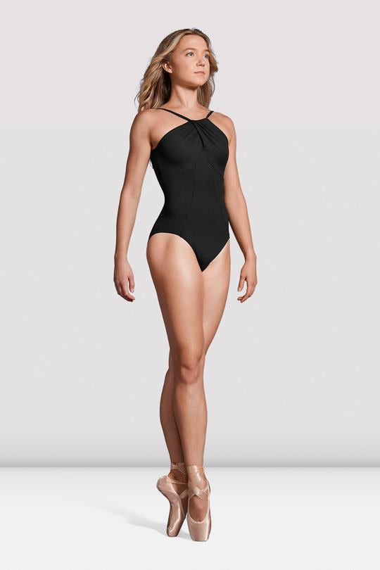 Ladies Mirella Black Label Twist High Neck Leotard - MB7229
