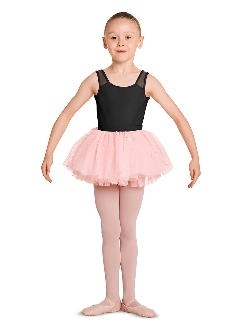 Mirella Child Velvet Bow Tutu Skirt - MS136C