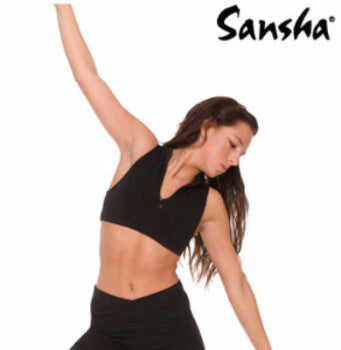 Sansha Adult Zip Crop Top - C201N - Enchanted Dancewear
