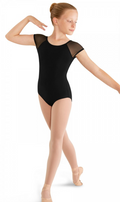 Mirella Child Soft Mesh Cap Sleeve Leotard - M411C