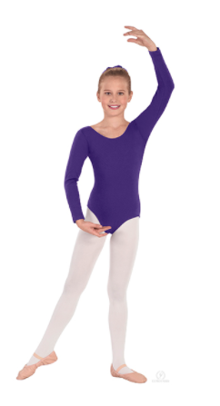 Eurotard Child Classic Cotton Long Sleeve Leotard - 10408