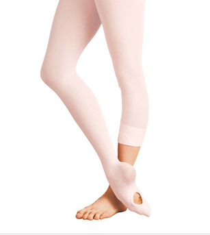 Body Wrappers Child Total Stretch Convertible Tights - C31