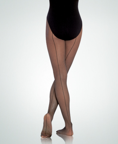 Body Wrappers Total Stretch Seamed Fishnets - A62