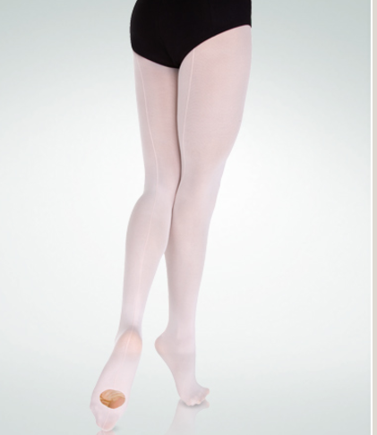 Body Wrappers Adult Ultrasoft Supplex ®/Lycra ® Microfiber Backseam Convertible Tights - A39