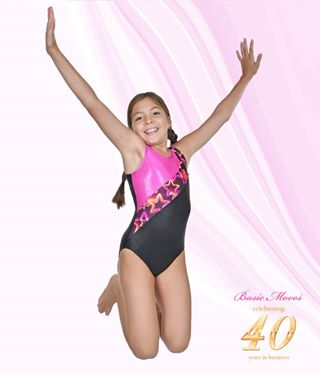 Basic Moves Star and Hearts Gymnastics Leotard - GY5879VS