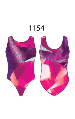 Motionwear Child Gymnastics Cross Body Tank Leotard - 1154